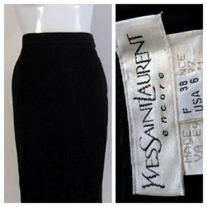 Vintage YSL yves saint Laurent black pencil skirt
